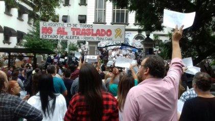 Los trabajadores exigen que el Hospital Curie no se traslade