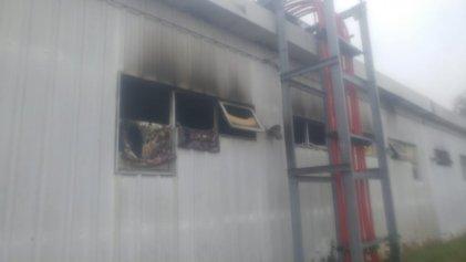 Burzaco: incendio en una planta de Edesur