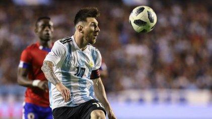 Selección Argentina: goleada en ensayo ante Haití con triplete de Messi