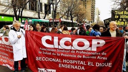 La Plata: paro activo de trabajadores de la salud