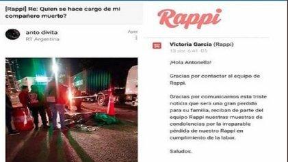 """Rappi brutal ante muerte de trabajador: """"Gracias por comunicarnos esta triste noticia"""""""