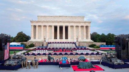 Trump entre tanques y una gran fiesta imperial