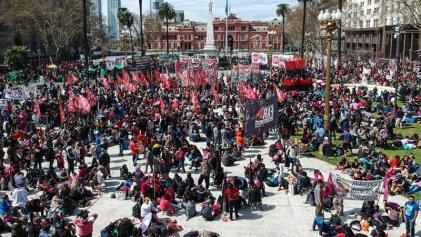 Importante jornada de lucha de organizaciones sociales contra el hambre y la represión