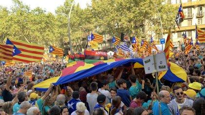 Masiva celebración del Día de Cataluña a días de la sentencia a los líderes independentistas
