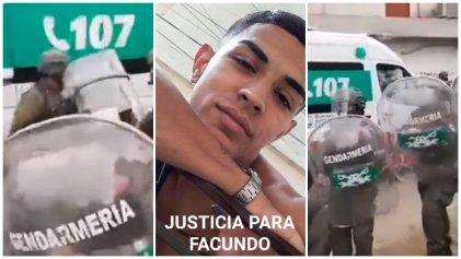 Se extiende el repudio por el fusilamiento de Gendarmería a Facundo Scalzo