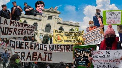 """Feriantes a Espinoza: """"Vinieron con topadoras y nos sacaron todo, solo queremos trabajar"""""""