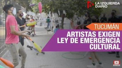 Artistas se manifestaron en la Legislatura de Tucumán
