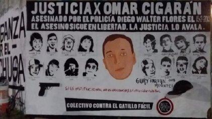 Impunidad en La Plata: policía asesino de Omar Cigarán libre por la ciudad