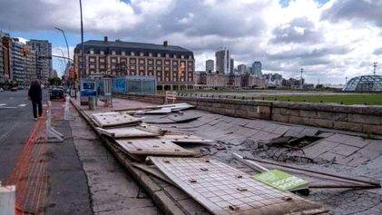 Destrozos y suspensión de clases por un temporal en Mar del Plata y localidades de la costa