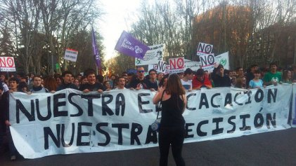 9M: miles de estudiantes ocuparon las calles de Madrid