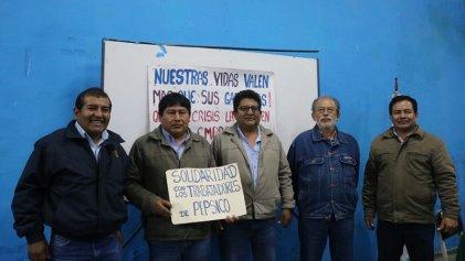 Trabajadores de la electricidad de Perú junto con PepsiCo