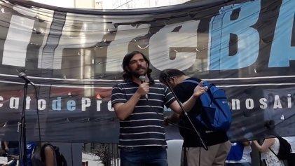 ((Video)) Nicolás Del Caño llevó su apoyo a los trabajadores de los medios públicos