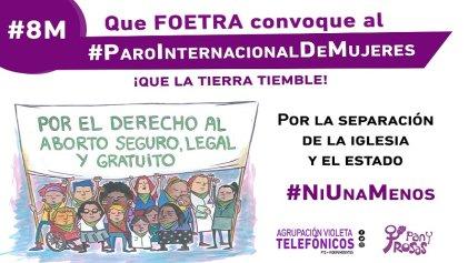 #AbortoLegal: Un debate con la Secretaría de Género de Foetra