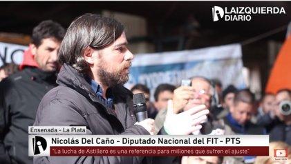 """[Video] Del Caño: """"La lucha de Astillero es una referencia para millones que sufren el ajuste"""""""
