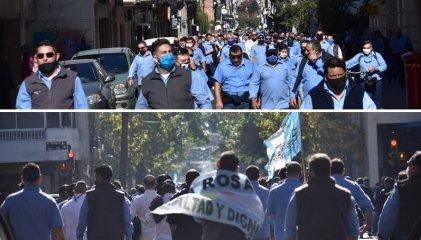 Rosario: masiva e histórica movilización de choferes de la UTA por sus salarios