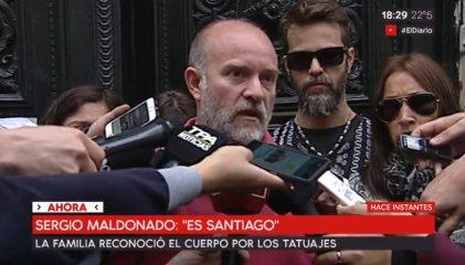"""Sergio Maldonado: """"Reconocimos los tatuajes, estamos convencidos de que es Santiago"""""""