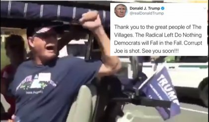 "Trump retuiteó a un supremacista blanco que grita ""white power"""