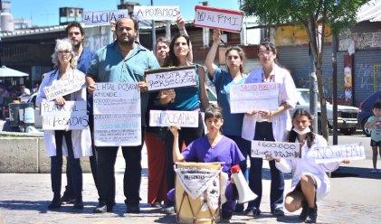 Artistas locales en apoyo a los trabajadores del Hospital Posadas