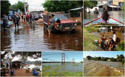 El litoral vive la inundación más grande de los últimos treinta años