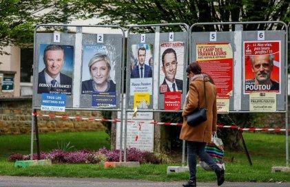 4 candidatos con posibilidades de ganar y reina la incertidumbre en las elecciones francesas