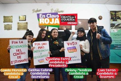 Triunfo: En Clave Roja ganó las elecciones de centro de estudiantes en el ISFD N°35 de Echeverría
