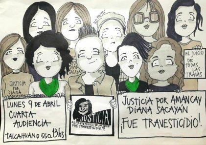 Se realizó cuarta audiencia por el travesticidio de Diana Sacayán