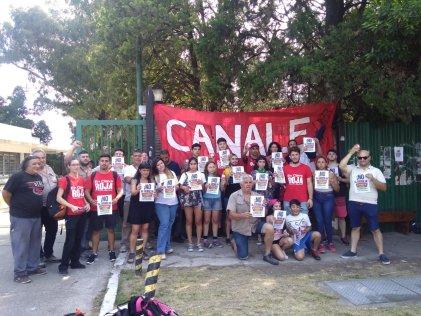 Estudiantes aportan fondo de lucha a los trabajadores de Canale