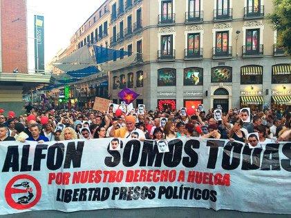 Miles toman las calles en el Estado español exigiendo la libertad de Alfon