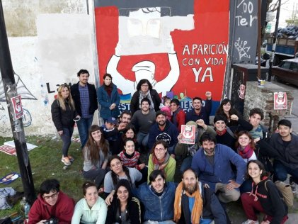 La Plata: mural contra la impunidad de ayer y de hoy