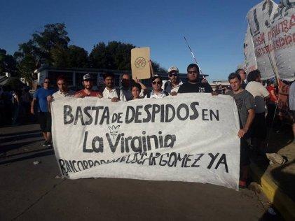 Importante apoyo al reclamo de reincorporación de Oscar Gómez a La Virginia