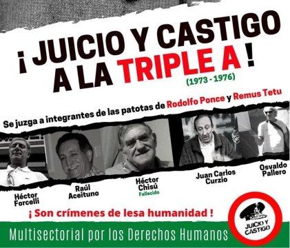"""Bahía Blanca: Inicia el juicio por crímenes de la """"Triple A"""""""