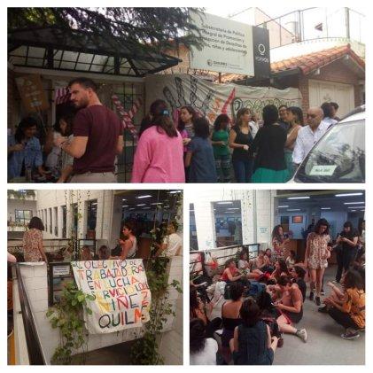 Quilmes: municipales del área de Niñez en lucha contra rebaja salarial de Martiniano