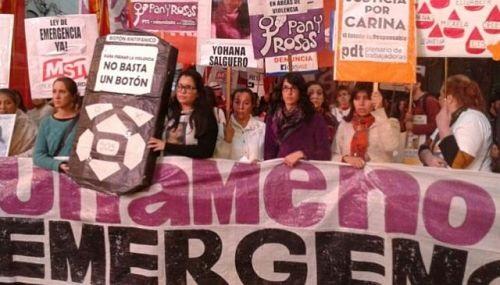 Rechazo al plan de emergencia contra la violencia hacia las mujeres