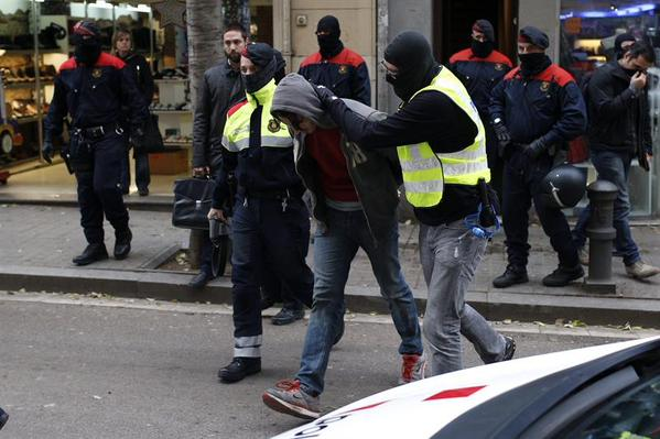 Detenciones masivas a militantes anarquistas