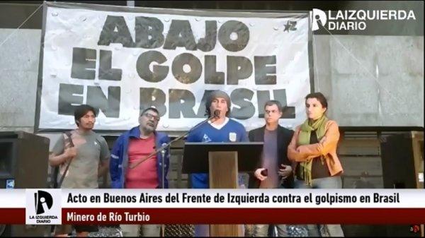 [VIDEO] Acto en Buenos Aires contra el golpismo en Brasil