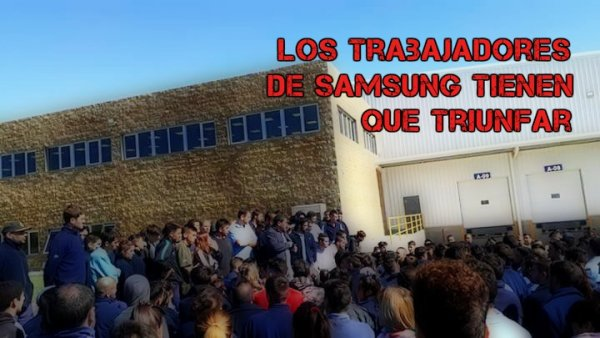 La lucha de los trabajadores de Samsung - Visuar tiene que triunfar