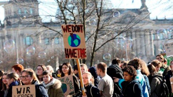 Huelga estudiantil en Europa contra la crisis ambiental