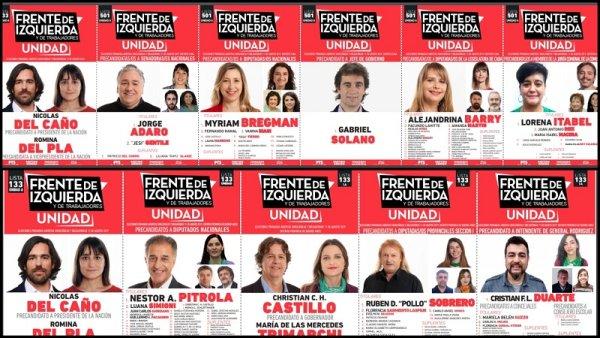 Conocé las boletas del Frente de Izquierda - Unidad en todo el país