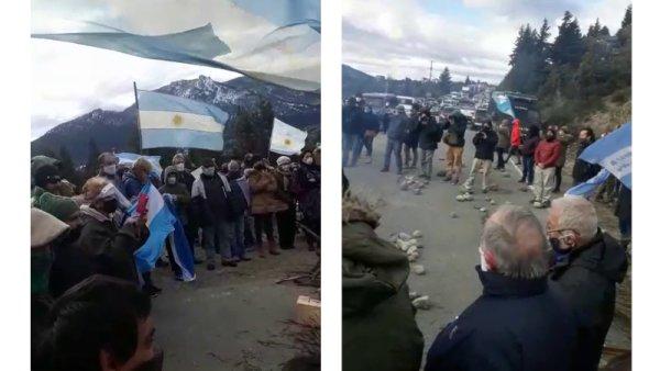 Marcha de odio y racismo en Bariloche