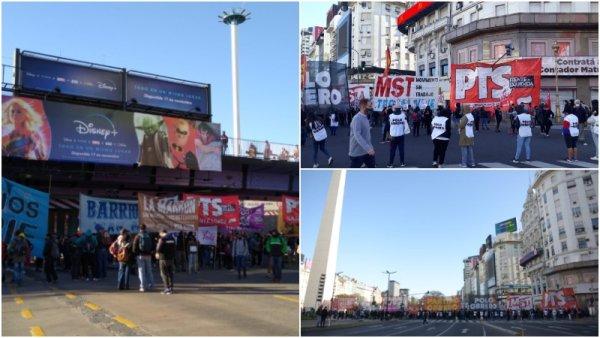 #NoAlDesalojoEnGuernica: cortes en el Obelisco, Puente Pueyrredón y otros puntos