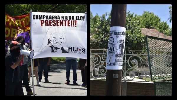 Lesa humanidad: escrache a Miguel Ferreyro en su domicilio de La Plata