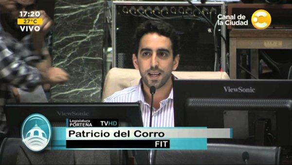 """Del Corro: """"Plata para la publicidad de Larreta, sí. Para educación pública, no"""""""