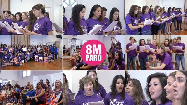 [Video] Pan y Rosas, las voces cantantes del 8 de marzo
