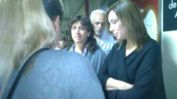 Vidal fue increpada por trabajadores y pacientes en el Hospital Gandulfo