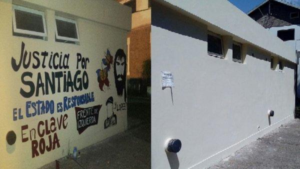 Rosario: borran mural de justicia por Santiago Maldonado en la Ciudad Universitaria