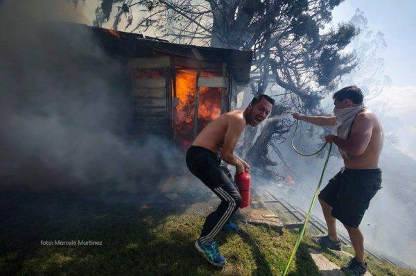 La Patagonia quemada