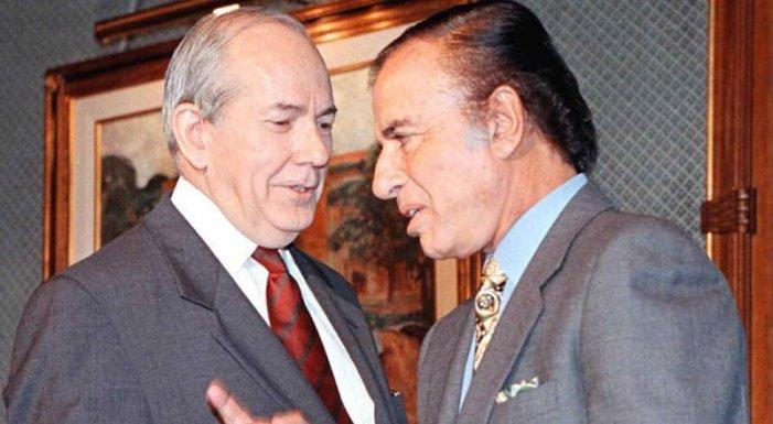 Menem y el director del FMI Michel Camdessus, en 1997. (Foto: La Voz)