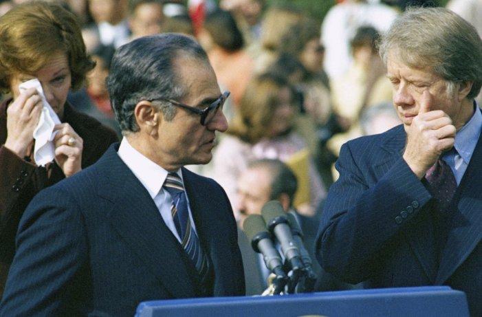 Carter y el Sha se encuentran Casa Blanca en noviembre de 1977-
